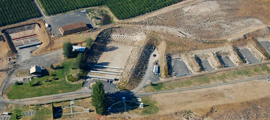 Aerial view of Yakima shooting park